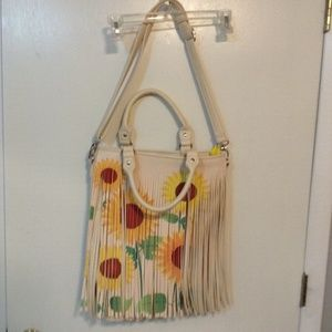 All leather sunflower purse.  Never used, no tags